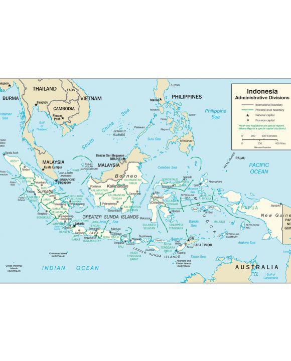 Lais Puzzle - Landkarte Indonesien Verwaltung - 100 Teile