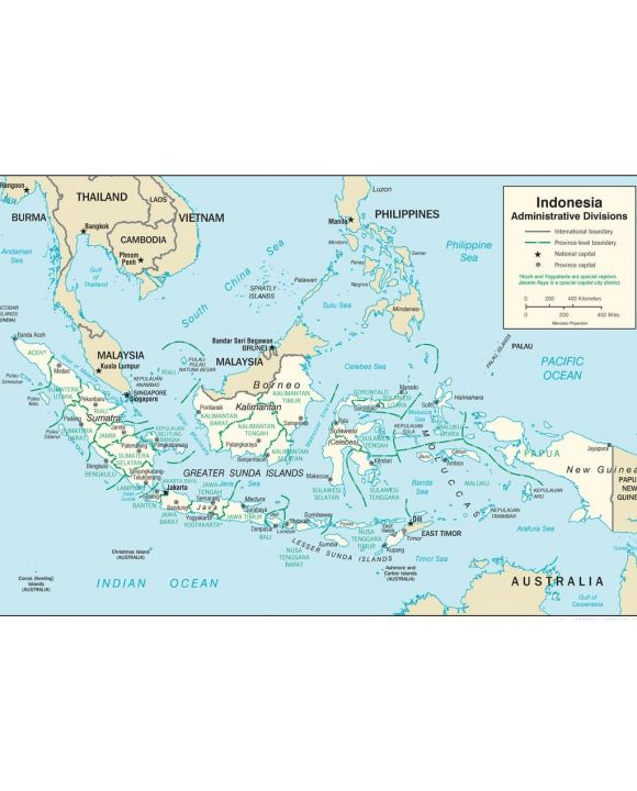 Lais Puzzle - Landkarte Indonesien Verwaltung - 500 Teile