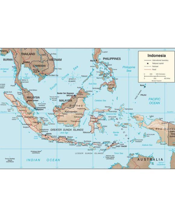 Lais Puzzle - Physische Landkarte Indonesien - 100, 200, 500, 1.000 & 2.000 Teile