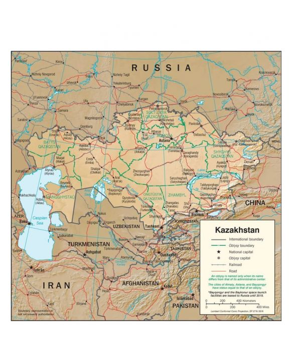 Lais Puzzle - Physische Landkarte Kasachstan - 100, 200, 500, 1.000 & 2.000 Teile