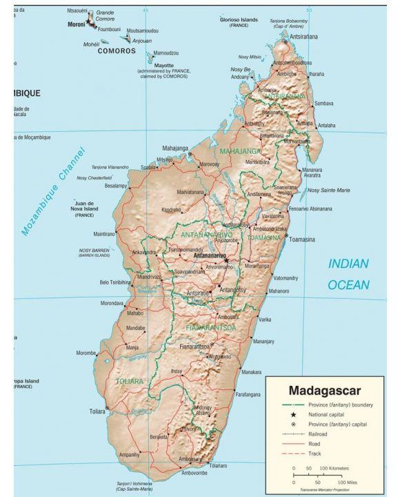 Lais Puzzle - Physische Landkarte Madagaskar - 1.000 Teile