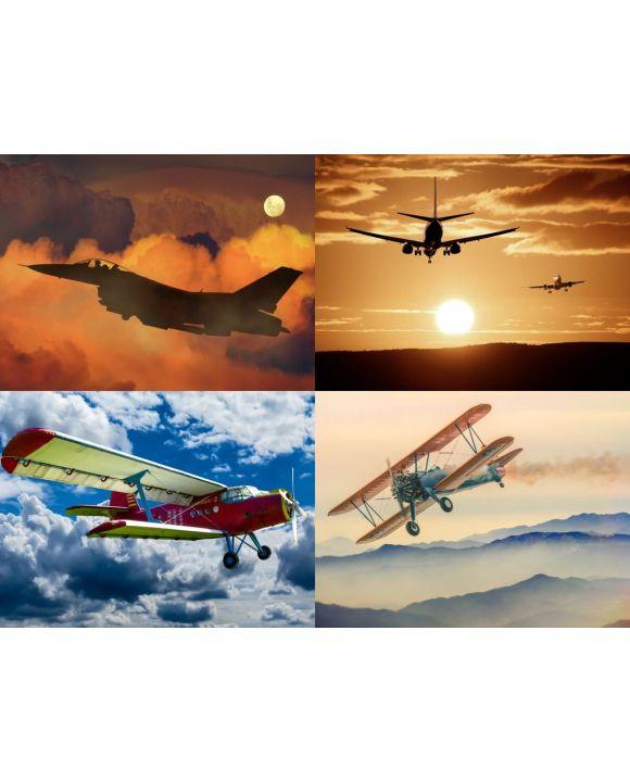 Lais Puzzle - Collage Flugzeuge - 100, 200, 500, 1.000 & 2.000 Teile