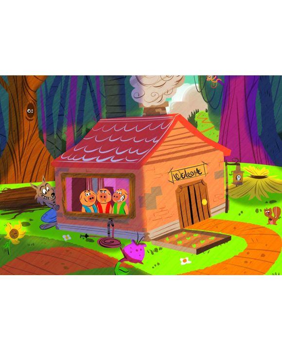 Lais Puzzle - Die drei kleinen Schweinchen - 100 & 200 Teile