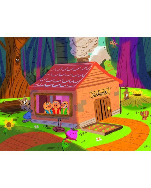 Lais Puzzle - Die drei kleinen Schweinchen - 100, 200, 500, 1.000 & 2.000 Teile