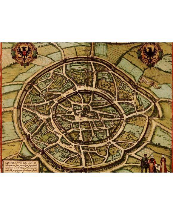 Lais Puzzle - Historische Stadtkarte Aachen 1572 - 100, 200, 500, 1.000 & 2.000 Teile