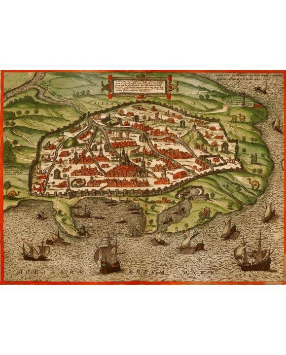 Lais Puzzle - Historische Stadtkarte Alexandria 1575 - 1.000 Teile