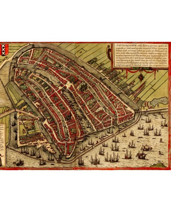 Lais Puzzle - Historische Stadtkarte Amsterdam 1572 - 1.000 Teile