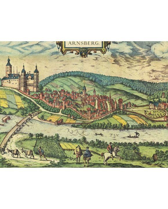 Lais Puzzle - Historische Stadtkarte Arnsberg 1588 - 100, 200, 500, 1.000 & 2.000 Teile