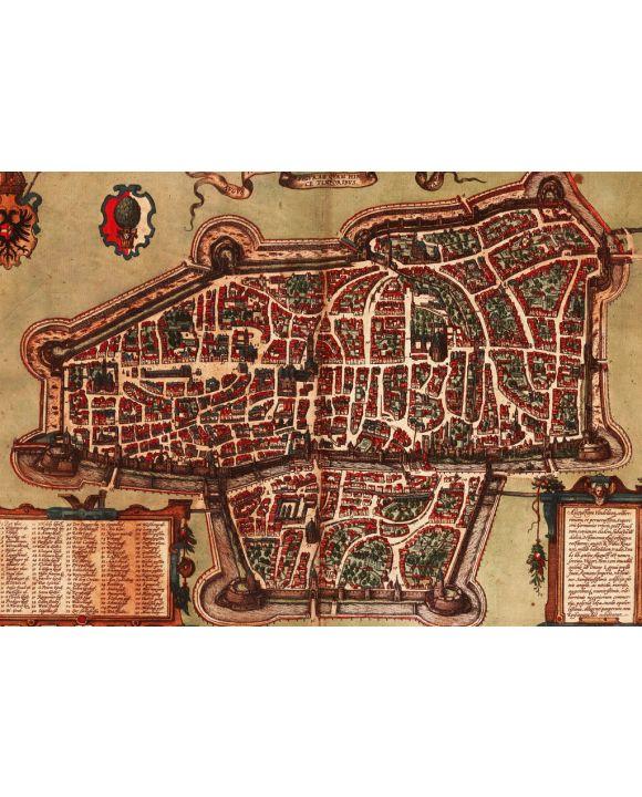 Lais Puzzle - Historische Stadtkarte Augsburg 1572 - 1.000 Teile