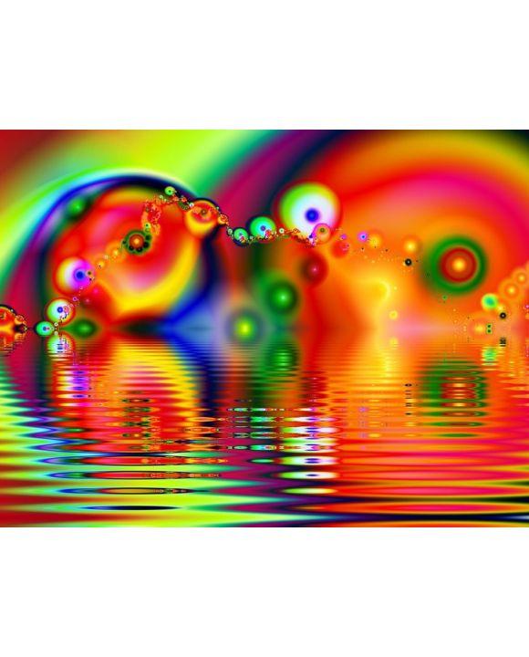 Lais Puzzle - Unmögliche, sehr schwierige, psychedelische Farben, Fraktal - 100, 200, 500, 1.000 & 2.000 Teile