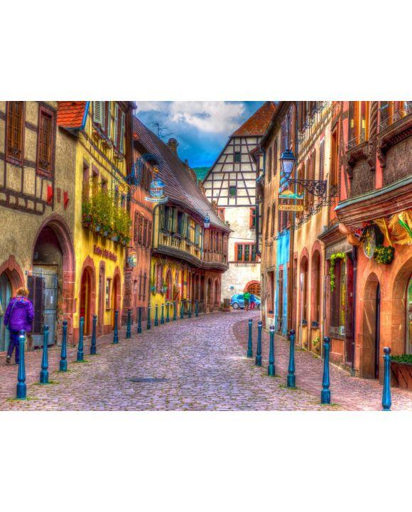 Lais Puzzle - Kaysersberg Elsass Frankreich - 100, 200, 500, 1.000 & 2.000 Teile