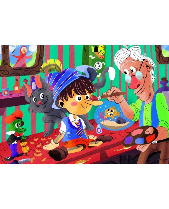 Lais Puzzle - Pinocchio - 100 & 200 Teile