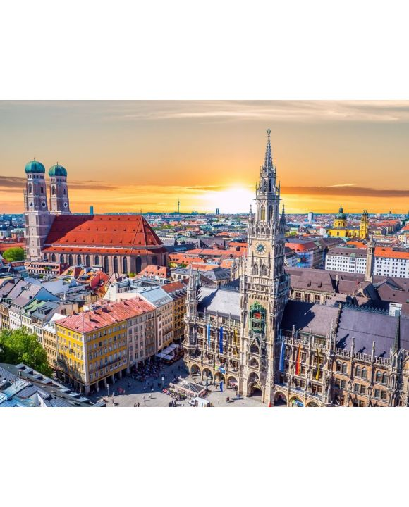 Lais Puzzle - München bei Sonnenuntergang - 100, 200, 500, 1.000 & 2.000 Teile