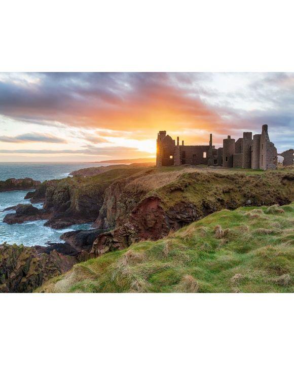 Lais Puzzle - Slains Castle im Sonnenuntergang, Schottland - 100, 200, 500, 1.000 & 2.000 Teile