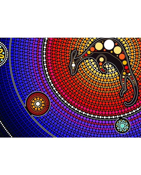 Lais Puzzle - Aborigines Kunst mit Känguru - 100 & 200 Teile