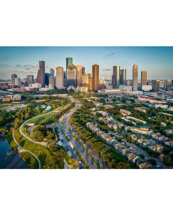 Lais Puzzle - Houston, Texas, USA, Skyline - 1.000 Teile
