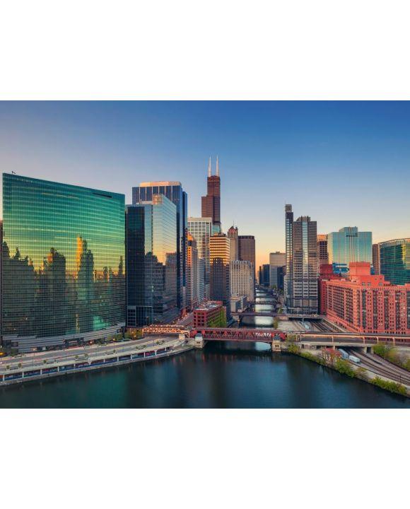 Lais Puzzle - Chicago, Illinois, USA, am Abend - 100, 200, 500, 1.000 & 2.000 Teile