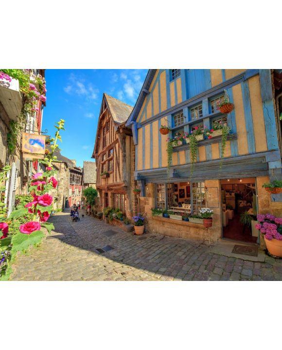 Lais Puzzle - Alte Häuser in der Stadt Dinan, Bretagne - 100, 200, 500, 1.000 & 2.000 Teile