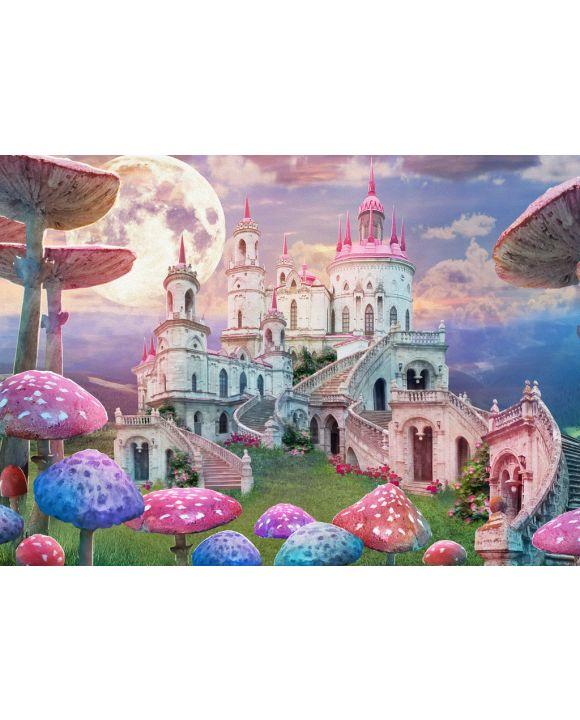 Lais Puzzle - Fantasie, Landschaft mit Pilzen und Schloss, Alice im Wunderland - 100, 200, 500 & 1.000 Teile