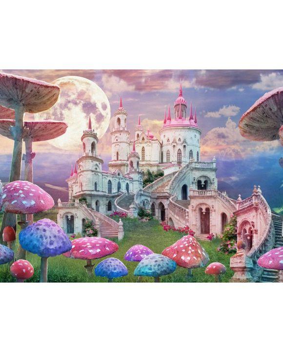 Lais Puzzle - Fantasie, Landschaft mit Pilzen und Schloss, Alice im Wunderland - 500 & 1.000 Teile