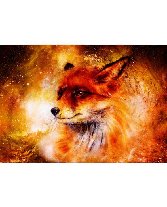 Lais Puzzle - Gemälde von Fuchs im kosmischen Raum - 100, 200, 500 & 1.000 Teile