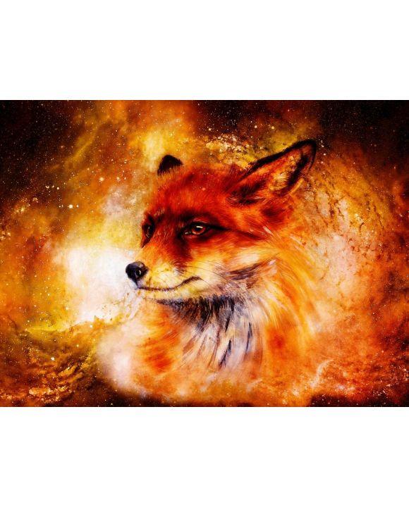 Lais Puzzle - Gemälde von Fuchs im kosmischen Raum - 100, 200, 500, 1.000 & 2.000 Teile