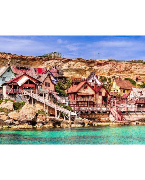 Lais Puzzle - Malta, Il-Mellieha - Popeye Dorf - 100, 200, 500, 1.000 & 2.000 Teile