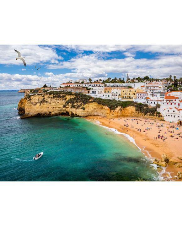 Lais Puzzle - Fischerdorf Carvoeiro mit schönem Strand, Algarve, Portugal - 100, 200, 500, 1.000 & 2.000 Teile