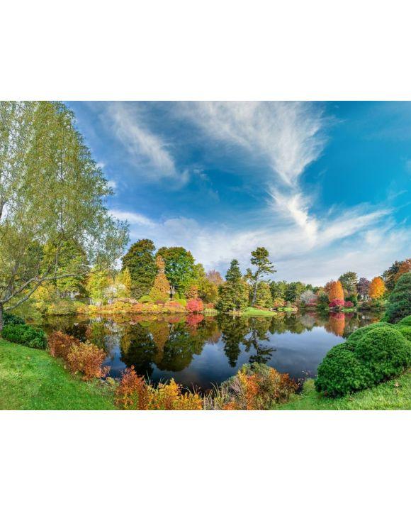 Lais Puzzle - Panoramablick auf Hadlock Pond im Herbst. Drei Farben des Acadia National Park, Maine - 100, 200, 500, 1.000 & 2.000 Teile