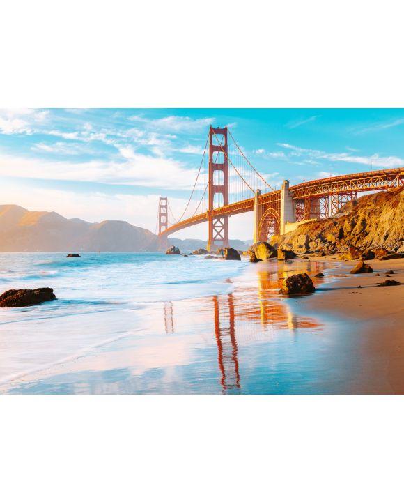 Lais Puzzle - Golden Gate Brücke im Sonnenuntergang, San Francisco, Kalifornien, USA - 100, 200, 500 & 1.000 Teile