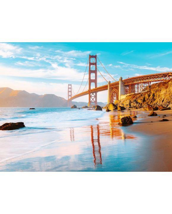 Lais Puzzle - Golden Gate Brücke im Sonnenuntergang, San Francisco, Kalifornien, USA - 500 & 1.000 Teile