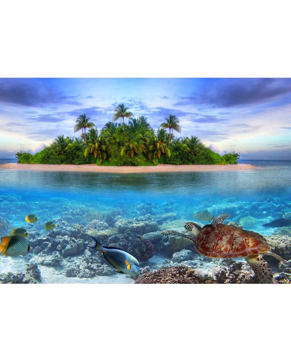 Lais Puzzle - Schildkröte / Wasserschildkröte vor Malediven - 100, 200, 500 & 1.000 Teile