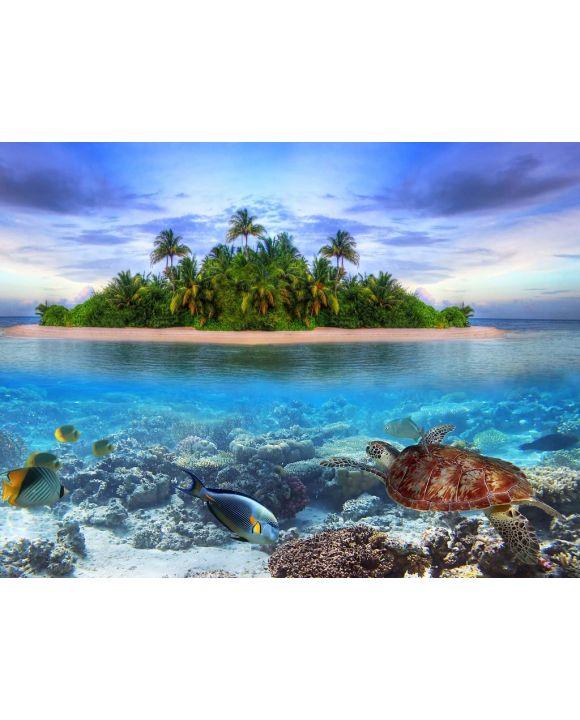 Lais Puzzle - Schildkröte / Wasserschildkröte vor Malediven - 500 & 1.000 Teile