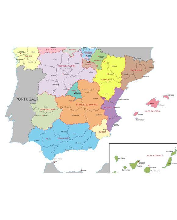 Lais Puzzle - Spanien, Verwaltung, Karte - 100, 200, 500 & 1.000 Teile