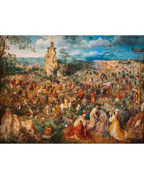 """Lais Puzzle - Pieter Bruegel d.Ä. -  """"Die Prozession nach Golgatha"""" (1564)  - 500 & 1.000 Teile"""