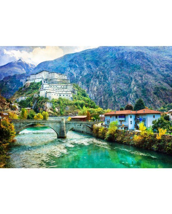 Lais Puzzle - Burgen von Valle d'Aosta, Bardenfestung, Italien - 100, 200, 500 & 1.000 Teile