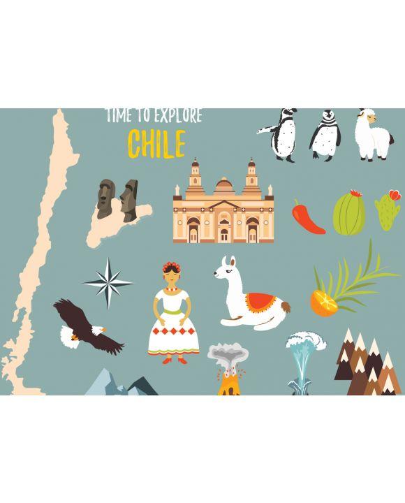 Lais Puzzle - Repräsentative Bilder von Chile, Landschaften, Vulkanen, Traditionen, Symbolen und Kultur - 100, 200, 500 & 1.000 Teile