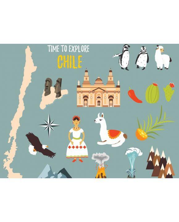 Lais Puzzle - Repräsentative Bilder von Chile, Landschaften, Vulkanen, Traditionen, Symbolen und Kultur - 500 & 1.000 Teile