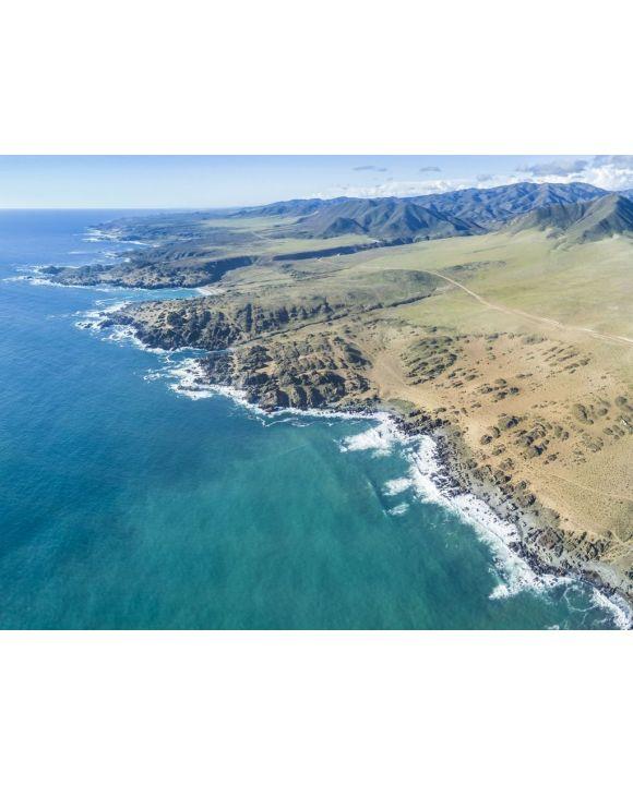 Lais Puzzle - Eine Luftaufnahme des Nationalparks Llanos de Challe, Atacama-Wüste an der Küste. Erstaunliche Landschaft wie diese Küste des Pazifischen Ozeans in Carrizal Bajo Stadt mit seinen Schluchten und Tälern, Chile - 100, 200, 500, 1.000 & 2.000...