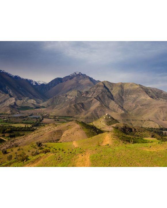 Lais Puzzle - Kakteen, Berge und Täler in der Nähe der Stadt Vicuña Vicuna. Elqui-Tal in Chile - 100, 200, 500, 1.000 & 2.000 Teile