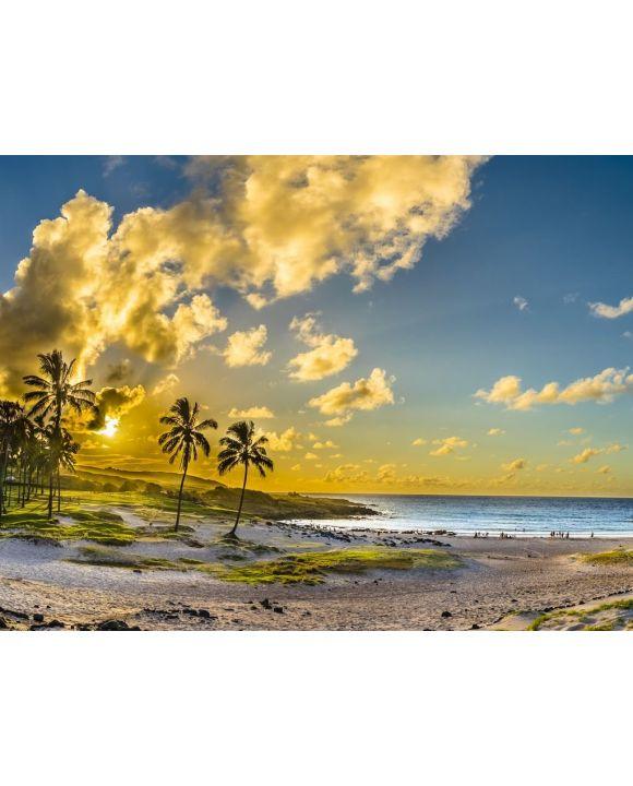 Lais Puzzle - Anakena Strand mit seinem Ahu Nau Nau Moais, einem der schönsten Orte auf der Osterinsel und seiner Rapa Nui Kultur - 100, 200, 500, 1.000 & 2.000 Teile