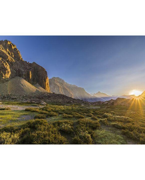 Lais Puzzle - Anden-Täler im Zentrum Chiles bei Cajon del Maipo, Santiago de Chile, atemberaubender Blick über Berge und Gletscher - 100, 200, 500, 1.000 & 2.000 Teile