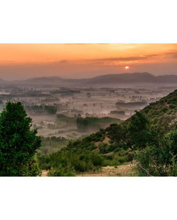 Lais Puzzle - Malerischer Sonnenaufgang im Frühling in Zentralchile - neblige Berge, Coltauco, O'Higgins-Region, Chile, Südamerika - 100, 200, 500, 1.000 & 2.000 Teile