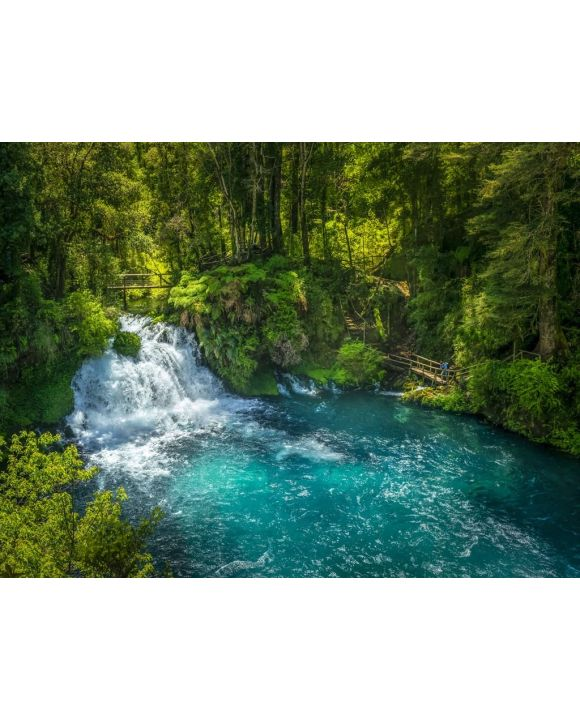 Lais Puzzle - Ojos del Caburgua Wasserfall, Pucon, Araucania, Chile. Chilenisches Patagonien - 100, 200, 500, 1.000 & 2.000 Teile