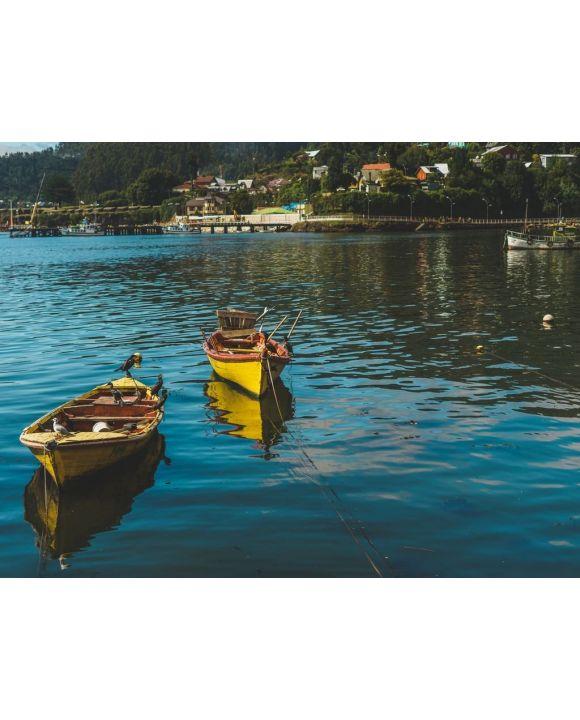 Lais Puzzle - Fischerboote in der Stadt Niebla, Valdivia, Chile - 100, 200, 500, 1.000 & 2.000 Teile
