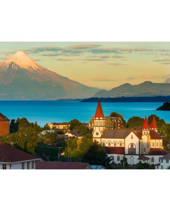 Lais Puzzle - Puerto Varas am Ufer des Llanquihue-Sees mit dem Vulkan Osorno im Hintergrund, X Region de Los Lagos, Chile - 100, 200, 500, 1.000 & 2.000 Teile