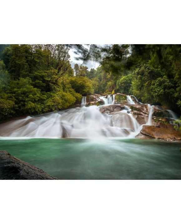 Lais Puzzle - Wasserfall Toboganes in Cochamó, Chile - 100, 200, 500, 1.000 & 2.000 Teile