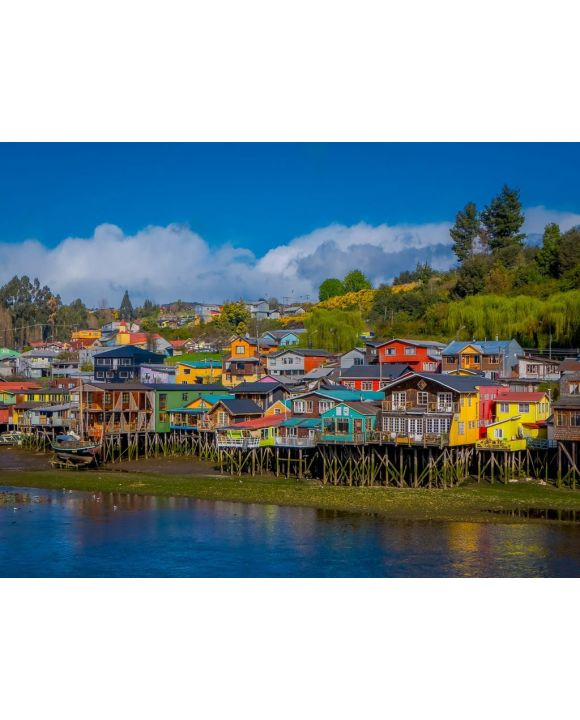 Lais Puzzle - Häuser auf Stelzen Palafitos in Castro, Chiloe Island, Patagonien - 100, 200, 500, 1.000 & 2.000 Teile