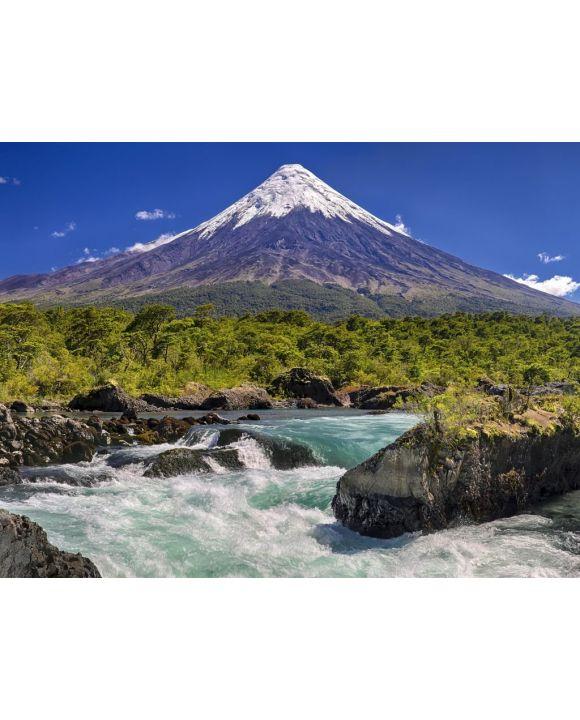 Lais Puzzle - Petrohue Wasserfälle vor dem Vulkan Osorno (Chile) - 100, 200, 500, 1.000 & 2.000 Teile