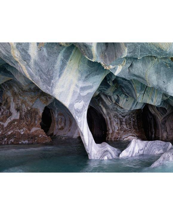 Lais Puzzle - Marmorhöhlen-Heiligtum, seltsame Felsformationen, die durch Wassererosion verursacht werden, General Carrera See, Puerto Rio Tranquilo, Region Aysen, Patagonien, Chile - 100, 200, 500, 1.000 & 2.000 Teile